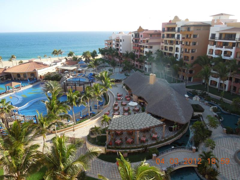 View from Balcony to pool and Pacific Ocean