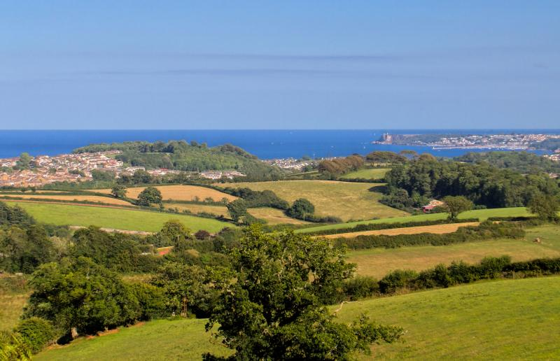 The from the property over The English Riviera