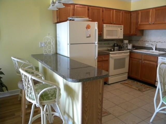 Open Kitchen Area - Ocean Forest Villas Oceanfront 2BR/2BA Condo - Myrtle Beach - rentals