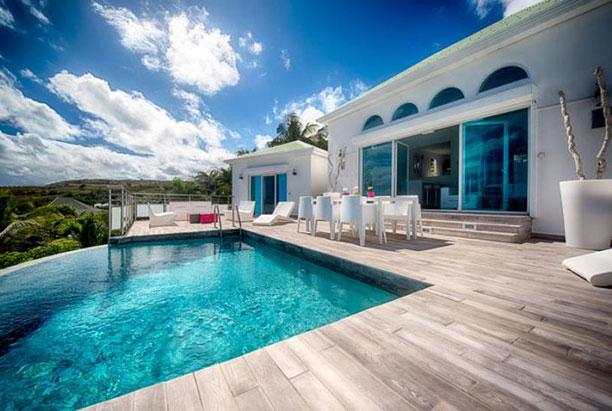 St. Martin Villa 152 A Lovely Sun Deck And Plunge Pool With Modern Luminous Patio Furniture. Enjoy A Fabulous View Over Orient Bay Beach. - Image 1 - Orient Bay - rentals