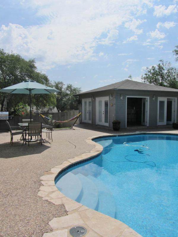 Your private oasis in the beautiful city of San Antonio.  Enjoy your private pool and cabana!