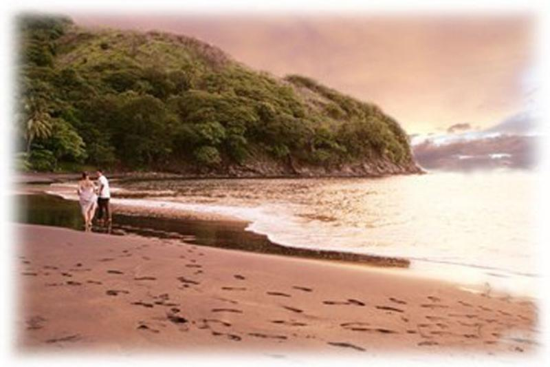 Our secluded black sand beach