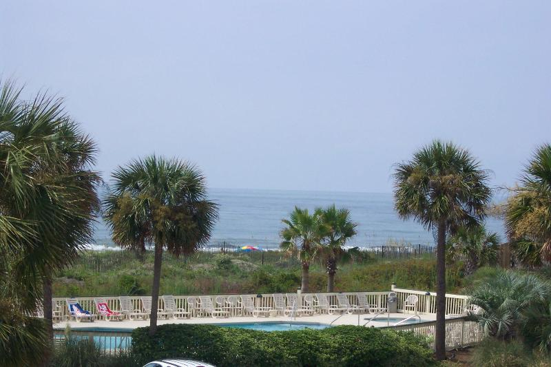 View from the balcony looking at ocean