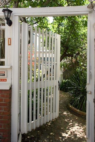 Entry gate leading to courtyard