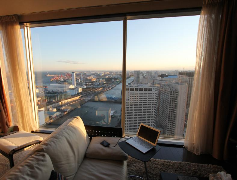 Gorgeous view of Tokyo Bay from the living room