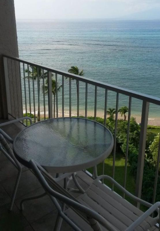 Beautiful ocean view from our lanai