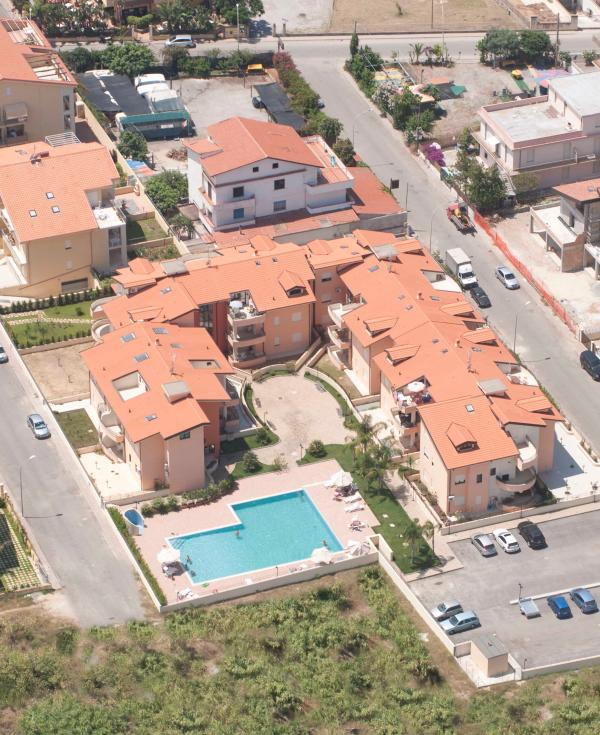 Aerial view of complex