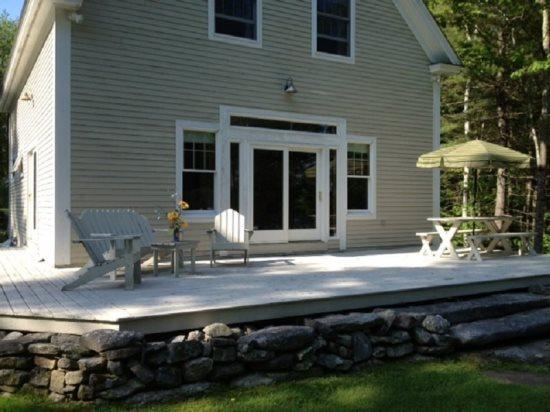 The Back Deck with Furniture
