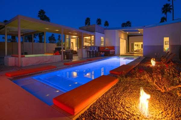 60' Long Pool, Two Pool-Side Fire-pits, Spa, Outdoor Kitchen