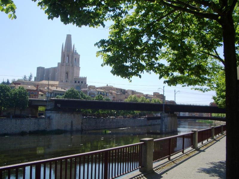Girona Cathedral from the riverbank near the flat
