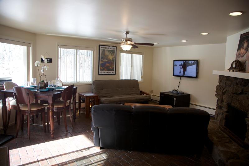 Kithcen into living/dining area