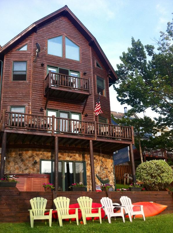Beautiful Home on the Lake. Great views of Western Sunsets.  Dock with Boat Slip included