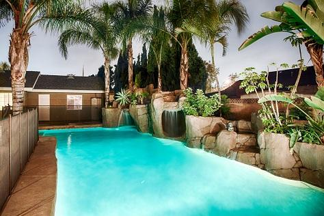 Entire Family will Love the Rock Slide Jungle Pool with Cave and Waterfalls...sweet!