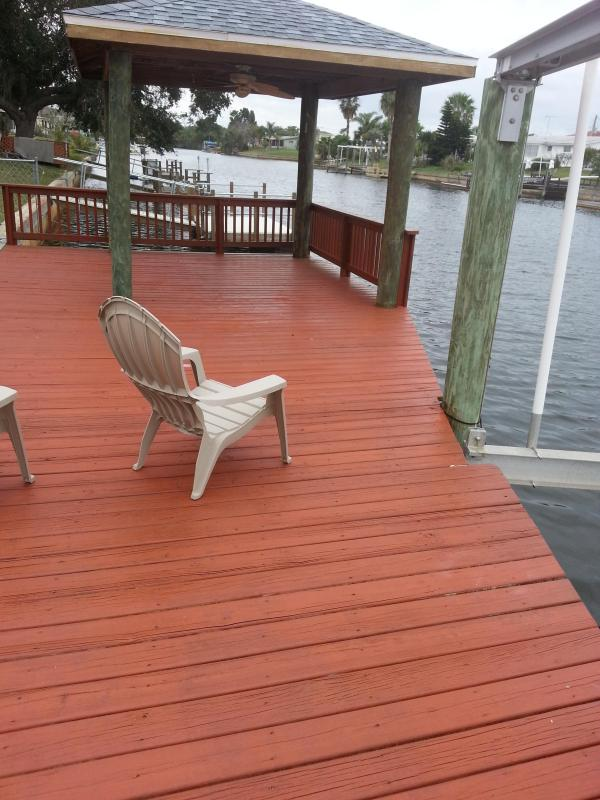 Freshly Stained Dock!
