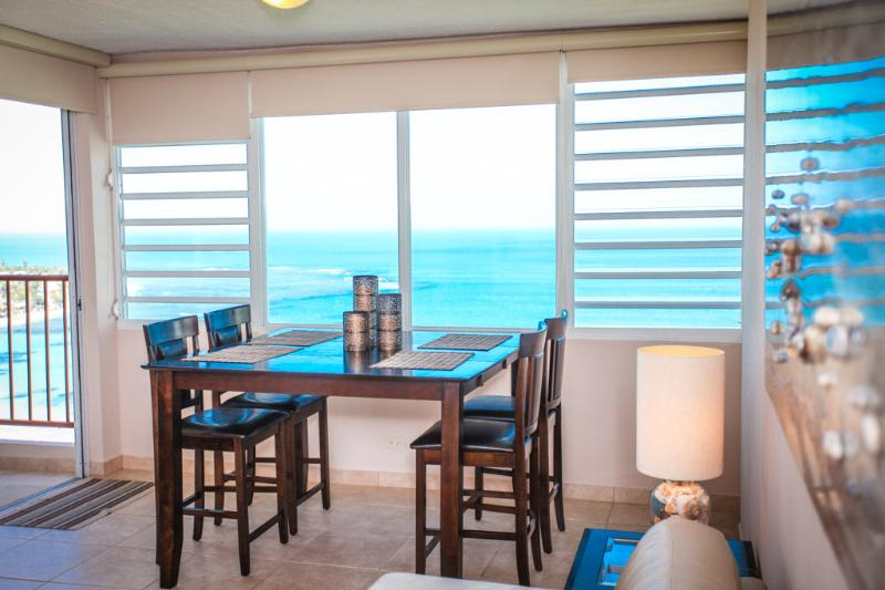 Beautiful ocean views from dining table
