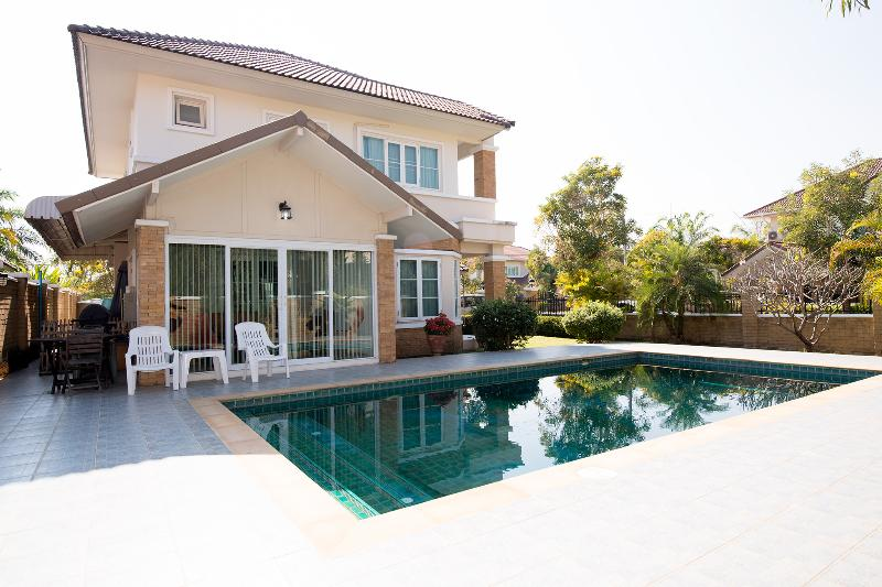 Side of our house with large private pool