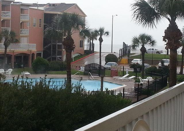 View from the balcony of the condo. Great spot to relax.