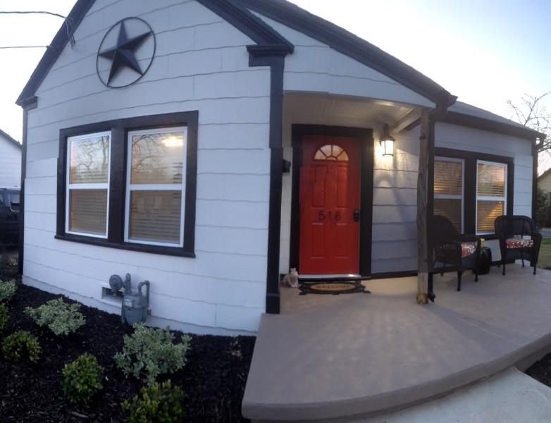 Private House Entry.  Keyless Locks.  Private Porch in New Landscaping