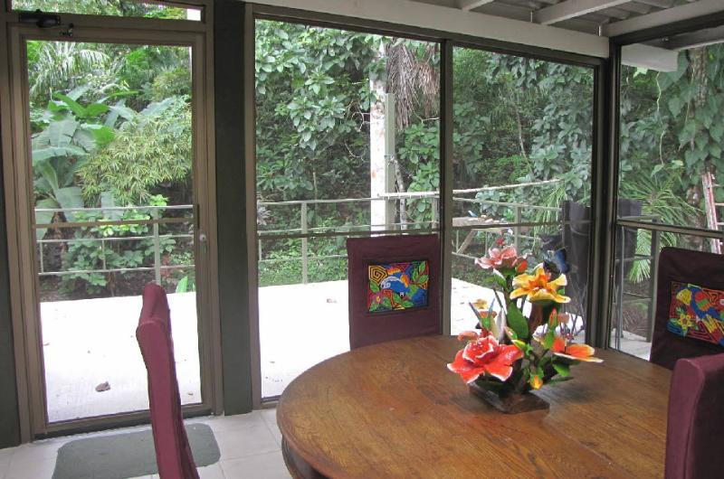 The screen porch, for good wildlife viewing