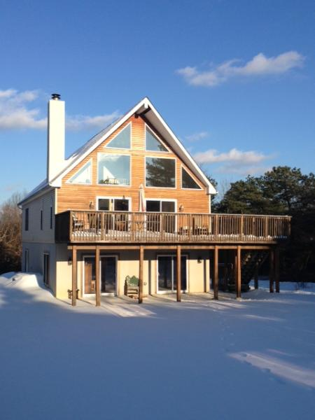 Front View  House Wooded Lot