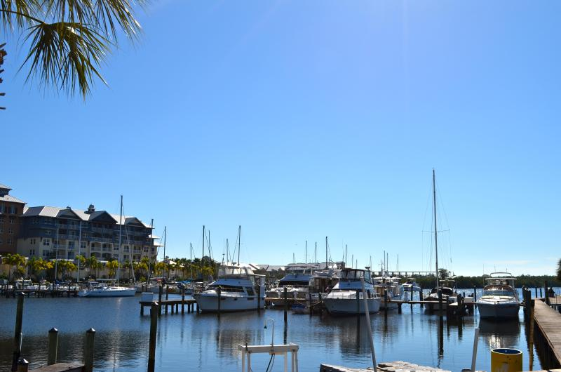 Harborside view, 5-minute walk en route to Bahia Beach from townhome
