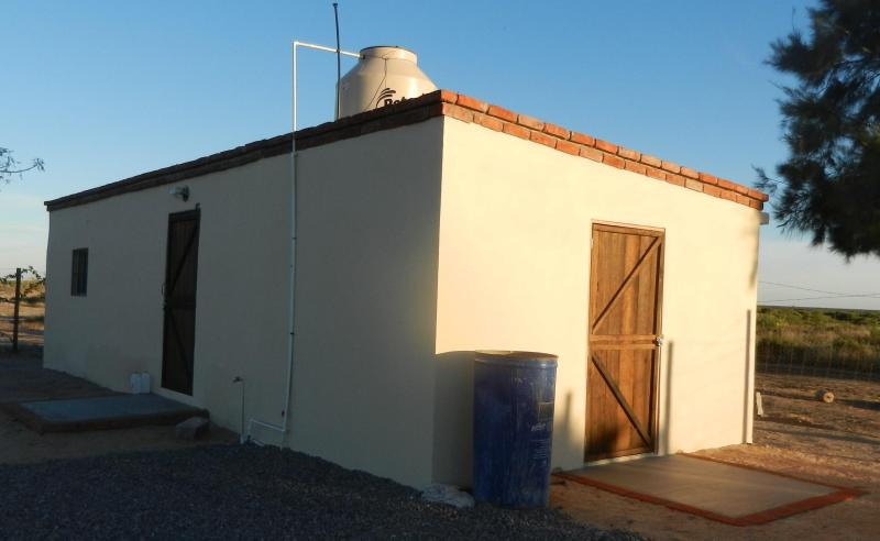 Small house, new construction on a large lot on the outskirts of Lopez Mateos.