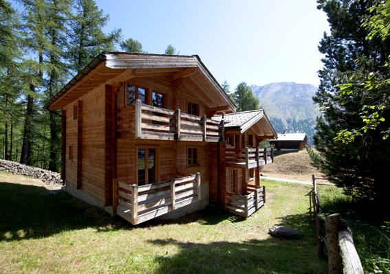 Chalet Fasan in the summer