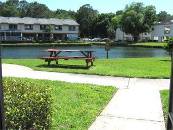 View from your front door at J-5 vacation condo in Paradise Lakes Resort