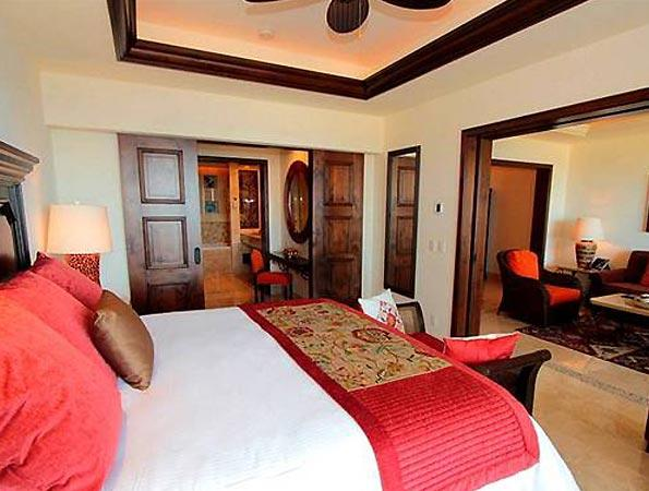 Well designed luxurious bedrooms with views.