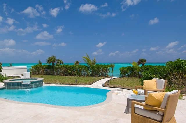 Enjoy the expansive ocean views from the large patio.