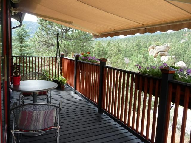 Relax on the deck - views, flowers, listen to the river.