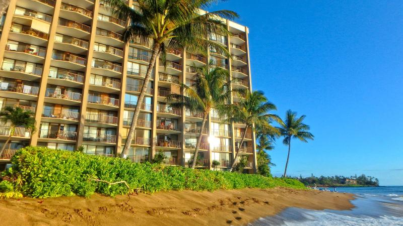 Oceanfront Valley Isle Resort on Kahana Beach