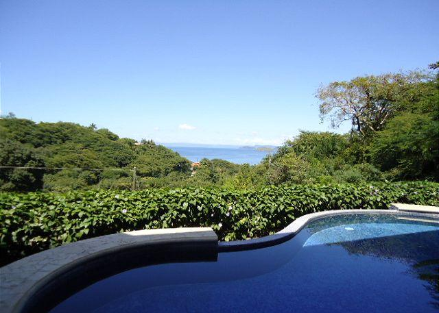 Enjoy the beuatiful ocean view from the pool