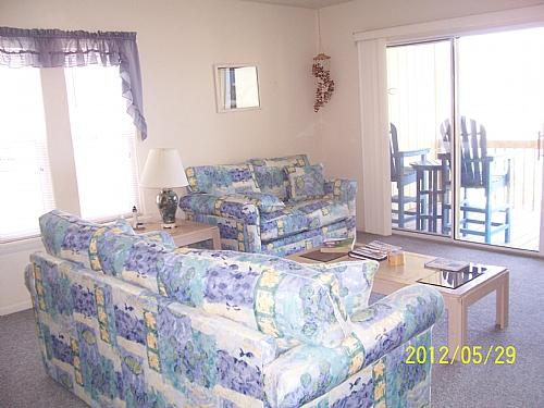 Living Room, View 01 - Surf Condo 222 - Surf City - rentals