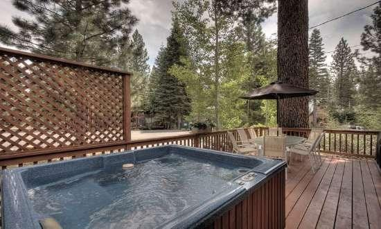 New Deck with Hot Tub, Patio Furniture  Propane BBQ
