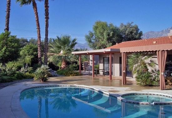 Backyard Pool  Spa - Burton Way Paradise - Palm Springs - rentals
