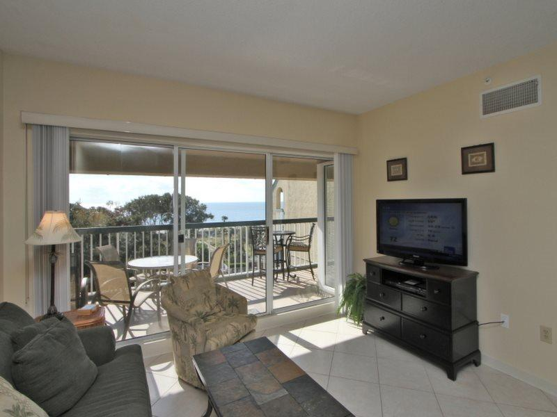 Living Room with Ocean Views at 502 Barrington Arms - 502 Barrington Arms - Hilton Head - rentals