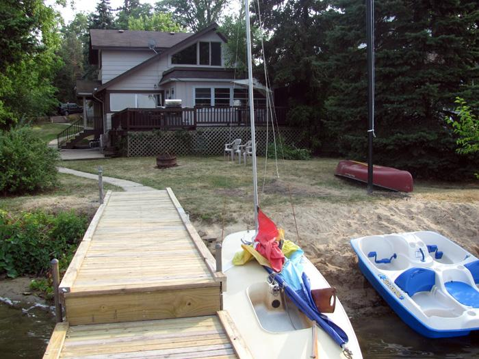 House Exterior; Back Enterance and Dock view
