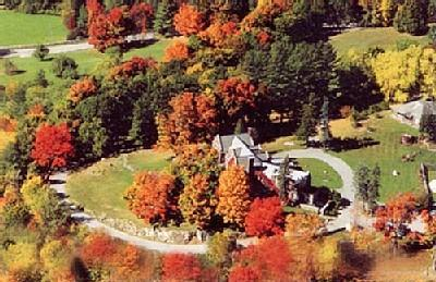 An arial view of the Wilburton in Fall. Drive on up and go back in time!