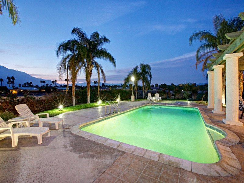 Poolside at Night - H-Shaffer Rancho Mirage Estate (Shaffer) - Cathedral City - rentals