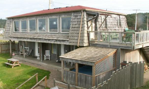 Ocean Side of Beach House, Unit #1 is at lower deck to the right