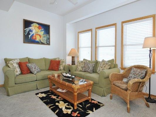Living Area with Deck Access - HR201: Ocean Fun - Kill Devil Hills - rentals