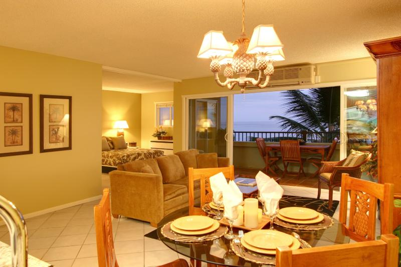 Refreshing Ocean Breeze into Inviting Living Room and Dining Room - Recently Redecorated
