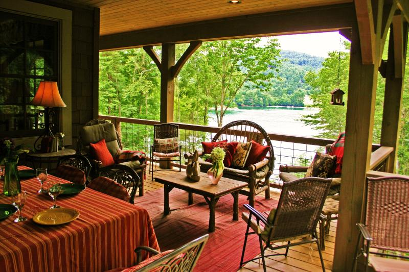 View of the Lake from the Porch on the Main Level