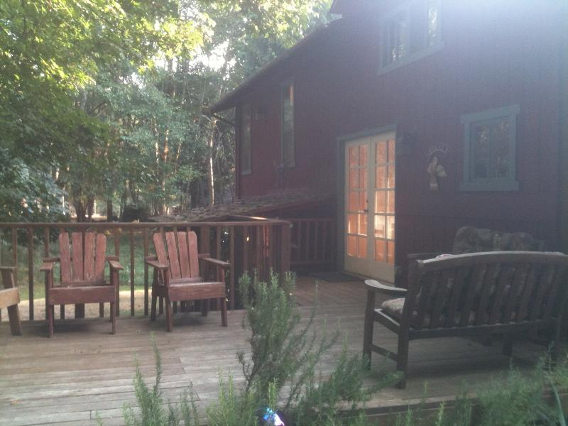 East deck in the front of the cabin