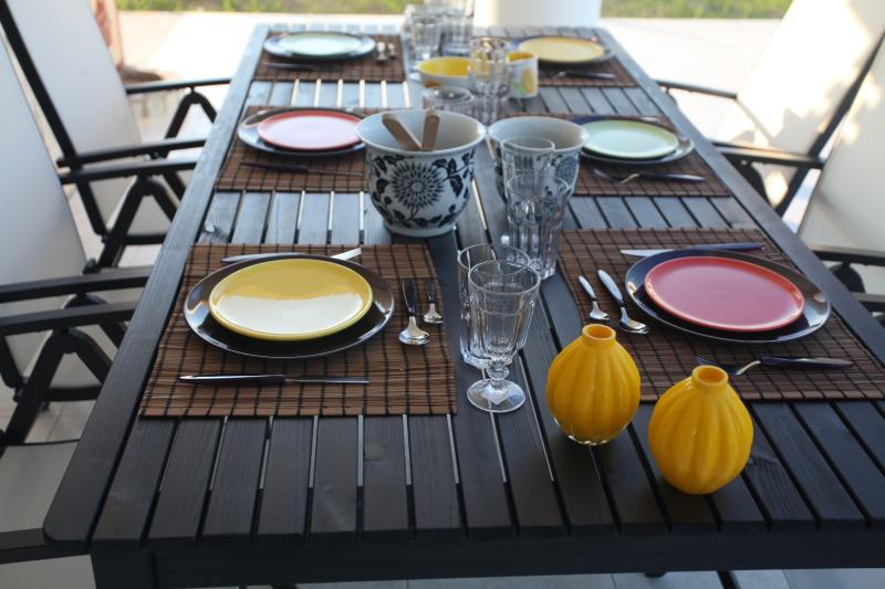 outside dinning table
