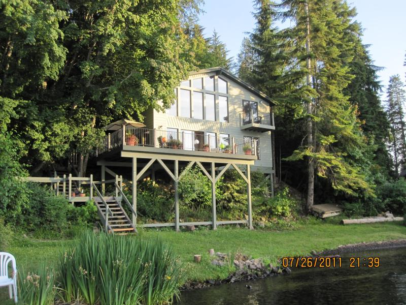 Front of Home with Shoreline - WATERFRONT STAY - THE BEST LOCATION ON LAKE COEUR D'ALENE - Coeur d'Alene - rentals