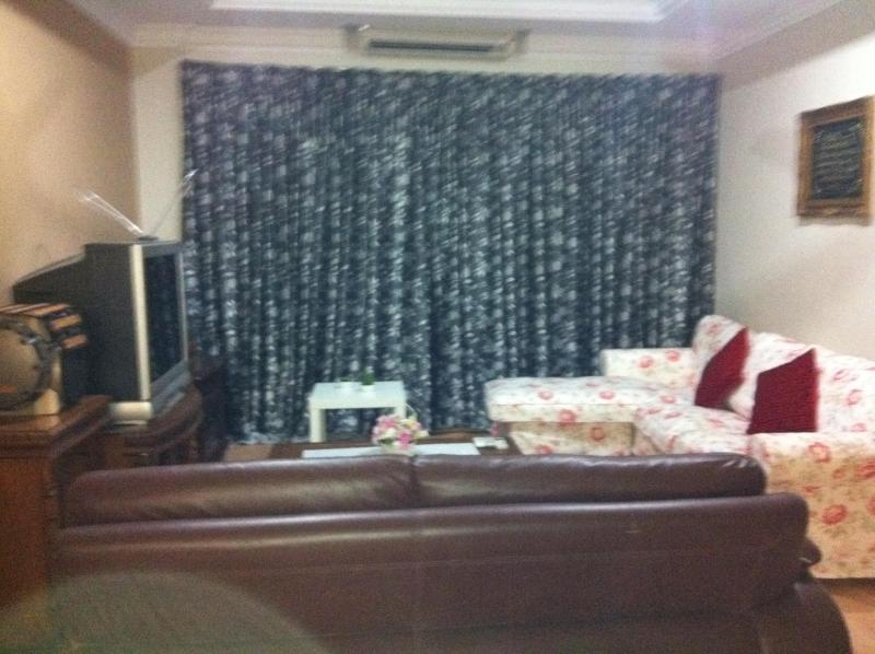 2 full sofa's, TV, stereo, air con & fan. Just perfect for your relaxation after a full day outing