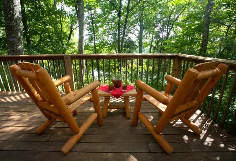 Refreshments on the deck in summer