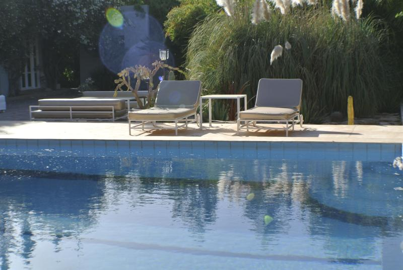 Loungers at pool side